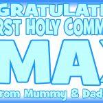 Baby Blue & Dark Blue Communion Banner