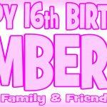 Baby Pink & Dark Pink Birthday Banner