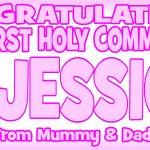 Baby Pink & Dark Pink Communion Banner