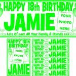 Green (Dark) & White Birthday Package
