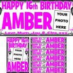 Pink (Dark) & Black Birthday Package