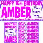 Pink (Dark) & Purple Birthday Package