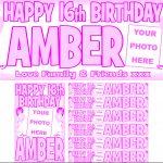 Baby Pink & Dark Pink Birthday Package