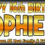 Black & Gold Birthday Banner