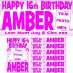 Pink (Dark) & White Birthday Package