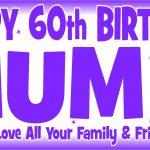 Purple & White Birthday Banner